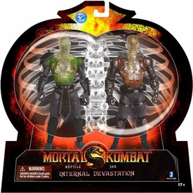 Mortal Kombat X-Ray 6 Inch Action Figure 2-Pack Internal Devastation [Reptile & Jax]