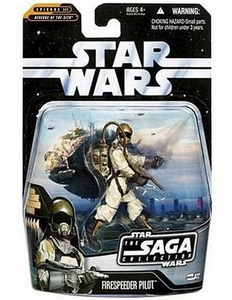 Star Wars Saga 2006 Basic Action Figure #22 Firespeeder Pilot