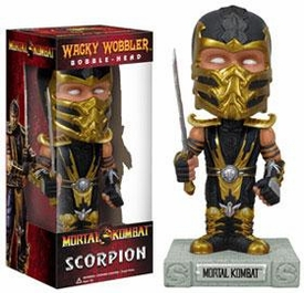 Funko Mortal Kombat Wacky Wobbler Bobble Head Scorpion