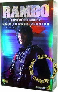 Sideshow Collectibles Rambo 12 Inch Action Figure Rambo {Halo Jumper Version} [First Blood Part II]