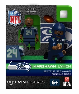 OYO Football NFL Building Brick Minifigure Marshawn Lynch [Seattle Seahawks]