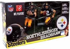 McFarlane Toys NFL Sports Picks Action Figure 2-Pack Ben Roethlisberger & Terry Bradshaw (Pittsburgh Steelers)