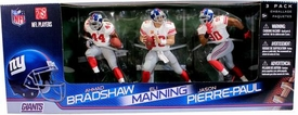 McFarlane Toys NFL Sports Picks Action Figure 3-Pack Eli Manning, Jason Pierre-Paul & Ahmad Bradshaw (New York Giants) White Jerseys