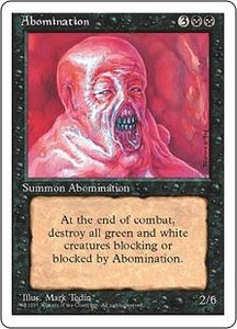 Magic the Gathering Fourth Edition Single Card Uncommon Abomination