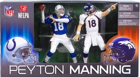 McFarlane Toys NFL Sports Picks Action Figure 2-Pack Peyton Manning (Indianapolis Colts & Denver Broncos)