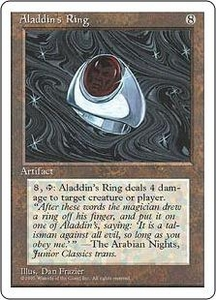 Magic the Gathering Fourth Edition Single Card Rare Aladdin's Ring