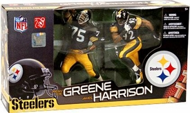 McFarlane Toys NFL Sports Picks Action Figure 2-Pack Mean Joe Greene & James Harrison (Pittsburgh Steelers)