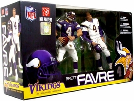 McFarlane Toys NFL Sports Picks Exclusive Action Figure 2-Pack Boxed Set Brett Favre (Minnesota Vikings) Purple & White Jerseys