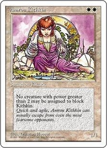 Magic the Gathering Fourth Edition Single Card Common Amrou Kithkin