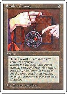 Magic the Gathering Fourth Edition Single Card Common Amulet of Kroog