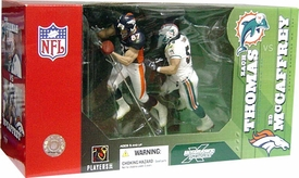 McFarlane Toys NFL Sports Picks Action Figure 2-Pack Zach Thomas (Miami Dolphins) & Ed McCaffrey (Denver Broncos)