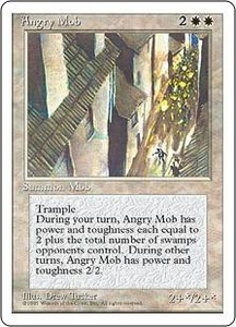 Magic the Gathering Fourth Edition Single Card Uncommon Angry Mob Played Condition Not Mint