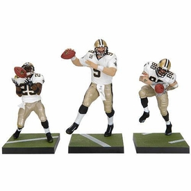 McFarlane Toys NFL Sports Picks Exclusive Championship Edition Action Figure 3-Pack Drew Brees, Reggie Bush & Jeremy Shockey (New Orleans Saints) White Jerseys