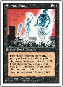Magic the Gathering Fourth Edition Single Card Uncommon Animate Dead