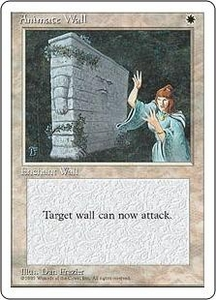 Magic the Gathering Fourth Edition Single Card Rare Animate Wall