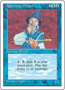 Magic the Gathering Fourth Edition Single Card Common Apprentice Wizard