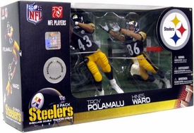 McFarlane Toys NFL Sports Picks Exclusive Action Figure 2-Pack Hines Ward & Troy Polamalu (Pittsburgh Steelers)
