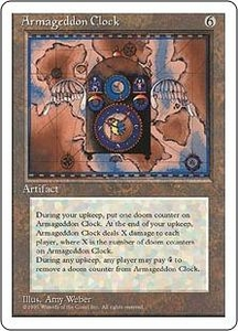 Magic the Gathering Fourth Edition Single Card Rare Armageddon Clock