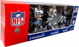 McFarlane Toys NFL Sports Picks Exclusive QB Chronology Action Figure 3-Pack Roger Staubach, Troy Aikman & Tony Romo (Dallas Cowboys)