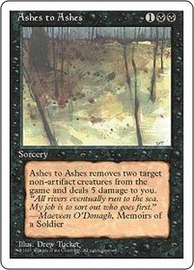 Magic the Gathering Fourth Edition Single Card Uncommon Ashes to Ashes
