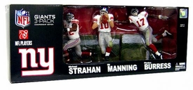 McFarlane Toys NFL Sports Picks Exclusive Championship Edition Action Figure 3-Pack Eli Manning, Michael Strahan & Plaxico Burress (New York Giants) White Jerseys