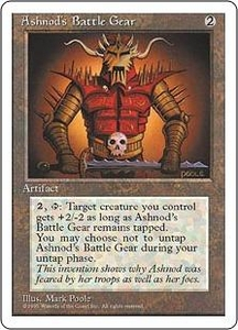 Magic the Gathering Fourth Edition Single Card Uncommon Ashnod's Battle Gear