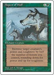 Magic the Gathering Fourth Edition Single Card Rare Aspect of Wolf