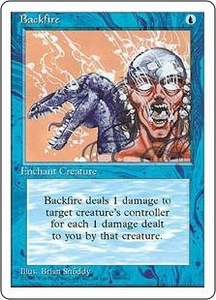 Magic the Gathering Fourth Edition Single Card Uncommon Backfire