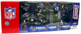 McFarlane Toys NFL Sports Picks Exclusive Action Figure 3-Pack Tiki Barber, Michael Strahan & Plaxico Burress (New York Giants)