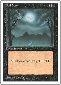 Magic the Gathering Fourth Edition Single Card Rare Bad Moon Played Condition