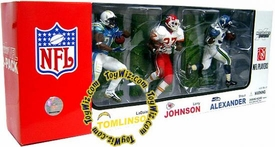 McFarlane Toys NFL Sports Picks Exclusive Action Figure 3-Pack LaDainian Tomlinson, Larry Johnson & Shaun Alexander [Elite Club Running Backs]