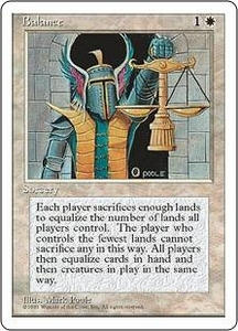 Magic the Gathering Fourth Edition Single Card Rare Balance