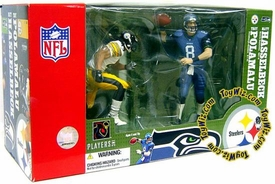 McFarlane Toys NFL Sports Picks Action Figure Super Bowl 2-Pack Matt Hasselbeck (Seattle Seahawks) & Troy Polamalu (Pittsburgh Steelers) BLOWOUT SALE!
