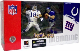 McFarlane Toys NFL Sports Picks Action Figure 2-Pack Peyton Manning (Indianapolis Colts) & Eli Manning (New York Giants)