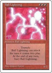 Magic the Gathering Fourth Edition Single Card Rare Ball Lightning