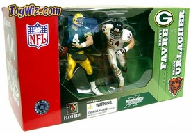 McFarlane Toys NFL Sports Picks Action Figure 2-Pack Brett Favre (Green Bay Packers) & Brian Urlacher (Chicago Bears)