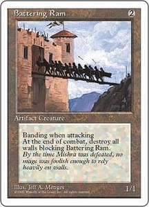 Magic the Gathering Fourth Edition Single Card Common Battering Ram