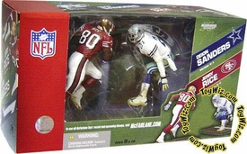 McFarlane Toys NFL Sports Picks Action Figure 2-Pack Jerry Rice (San Francisco 49ers) & Deion Sanders (Dallas Cowboys)