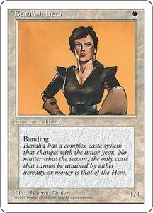 Magic the Gathering Fourth Edition Single Card Common Benalish Hero
