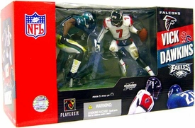 McFarlane Toys NFL Sports Picks Action Figure 2-Pack Michael Vick (Atlanta Falcons) & Brian Dawkins (Philadelphia Eagles)