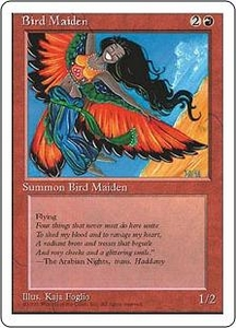 Magic the Gathering Fourth Edition Single Card Common Bird Maiden