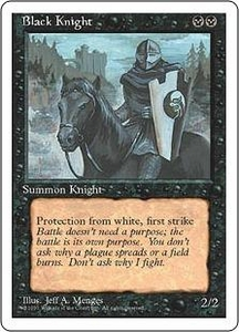 Magic the Gathering Fourth Edition Single Card Uncommon Black Knight