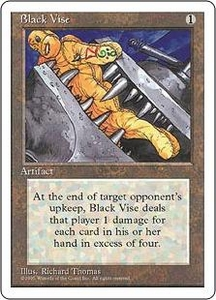 Magic the Gathering Fourth Edition Single Card Uncommon Black Vise