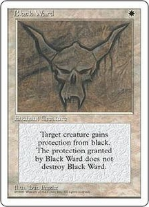 Magic the Gathering Fourth Edition Single Card Uncommon Black Ward
