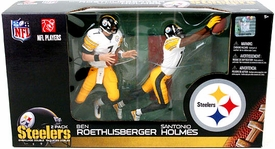 McFarlane Toys NFL Sports Picks Action Figure 2-Pack Ben Roethlisberger & Santonio Holmes (Pittsburgh Steelers)