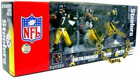 McFarlane Toys NFL Sports Picks Exclusive Pittsburgh Steelers Action Figure 3-Pack (Ben Roethlisberger, Hines Ward & Joey Porter)