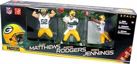 McFarlane Toys NFL Sports Picks Exclusive Championship Edition Action Figure 3-Pack Clay Matthews, Aaron Rodgers & Greg Jennings (Green Bay Packers) White Jerseys Damaged Package, Mint Contents!