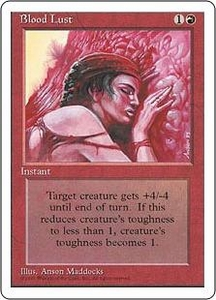 Magic the Gathering Fourth Edition Single Card Common Blood Lust