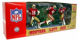 McFarlane Toys NFL Sports Picks Exclusive Action Figure 3-Pack Joe Montana, Jerry Rice & Ronnie Lott (San Francisco 49ers) Red Jerseys
