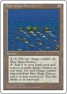 Magic the Gathering Fourth Edition Single Card Rare Blue Mana Battery